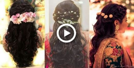 south indian bridal hairstyles for reception/north indian bridal hairstyle