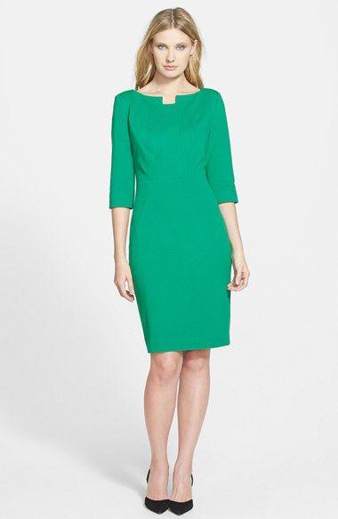 Classiques Entier® Notch Neck Ponte Sheath Dress available at #Nordstrom