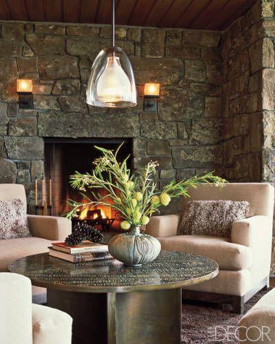 stone wall. natural. sitting room
