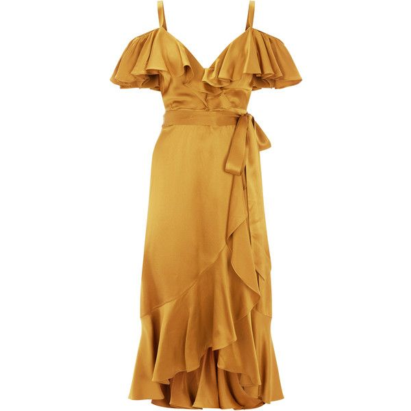 Temperley London Carnation Dress ($1,270) ❤ liked on Polyvore featuring dresses, temperley london, brown dresses and temperley london dress