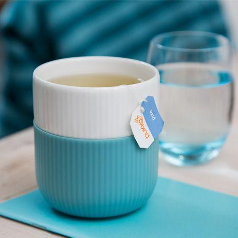 Royal Copenhagen Fluted Contrast  Turquoise Hot tea!