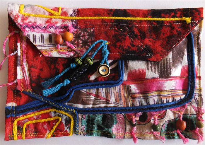 Patch work pouch for sale at www.made.com.au/hippyheartsbazaar