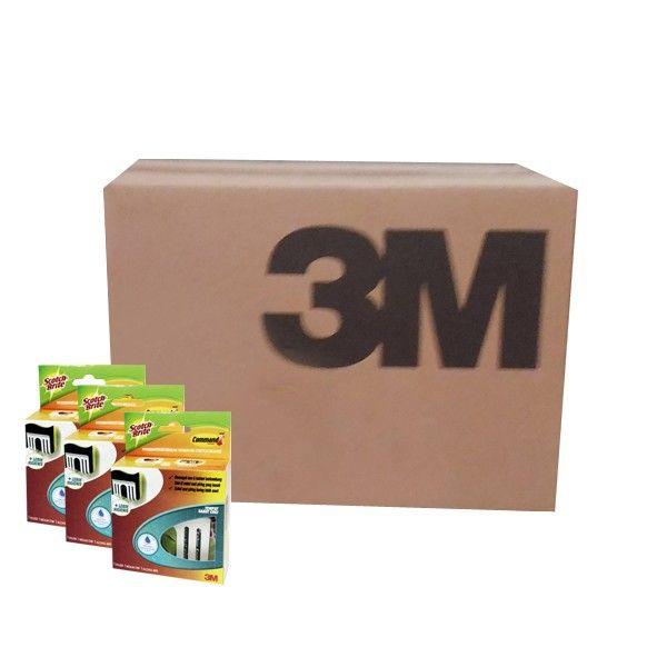 """Command™ Tempat Sabut Cuci Scotch-Brite (grosir) - Jual Online dg Harga Lebih Murah Merk Berkualitas Terbaik  Solusi Menjaga Sabut Cuci tetap Bebas dari Kuman dan lebih awet. Tempat Sabut Cuci dilengkapi dengan """"Stretch Release Technology"""" dari Command™ yang tidak merusak dinding.     - Harga per Carton (isi 24 Each)  #scotchbrite #tempatsabun #3M"""