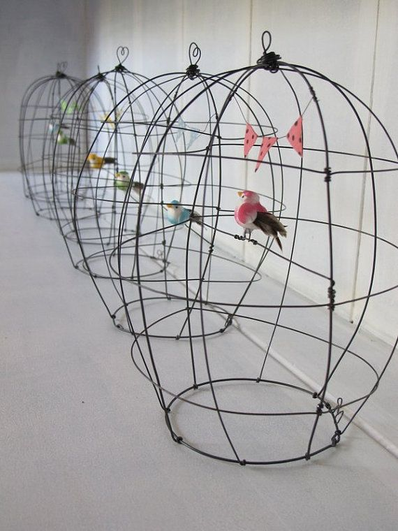 pequeña jaula de alambre elige tu color: por Debeauxsouvenirs