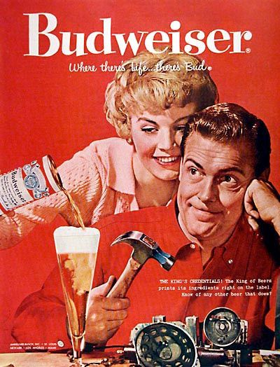 Vintage Budweiser ad.