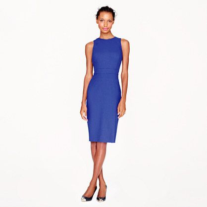 shown in festival blue, also available in black  |  J.Crew - Gwen dress