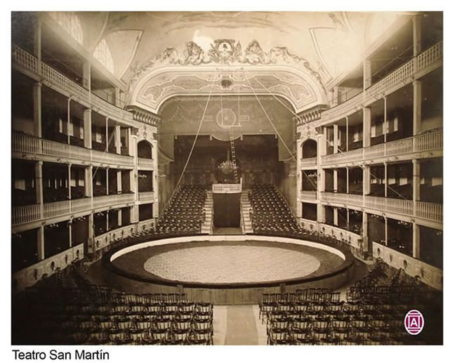 1890's Bs. As. Interior del teatro San Martín