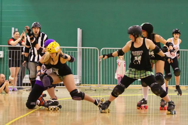 Awesome surge by Shay.  Roller Derby Royale 2013. NZ