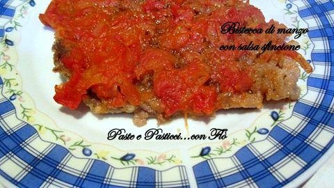 Bistecca di manzo con salsa sfincione