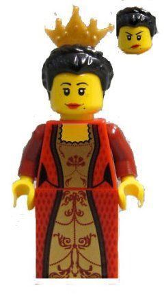 LEGO Red Queen Mini-figure 7952 by LEGO. $9.95. Approx -1 1/2 - 2 Inches Tall. Includes Crown. Lego Red Lion Queen - Lego Kingdoms Minifigure. Choking Hazard for children 3 and under. Lego Red Lion Queen - Lego Kingdoms Minifigure. Includes Crown. Approx -1 1/2 - 2 Inches Tall. Choking Hazard for children 3 and under.