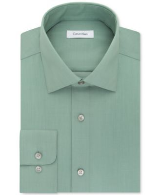 CALVIN KLEIN Calvin Klein Steel Men'S Classic-Fit Non-Iron Performance Solid Dress Shirt. #calvinklein #cloth # suits