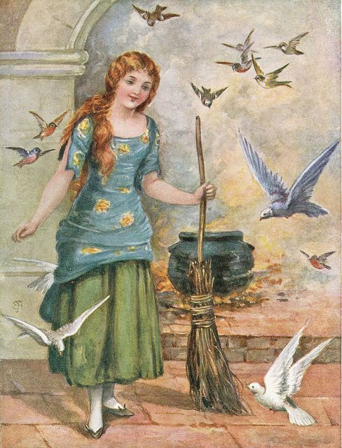 Cinderella --  A. L. Bowley -- Fairytale Illustration
