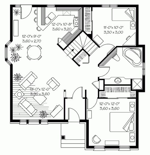 Best Floor Plans Under  Sf Images On Pinterest Small - Small homes under 1000 sq ft