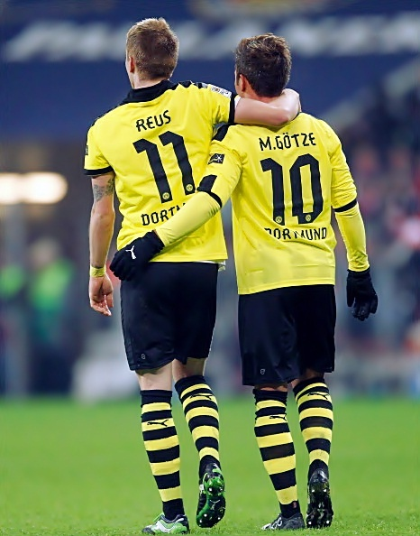 Marco Reus & Mario Götze 11, 10 and the only person missing is 9: Robert Lewandowski