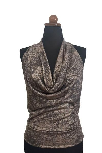 Tango top with low open back in gold #tangotop #tangoclothes #argentinetango #milongaoutfit #tangooutfit