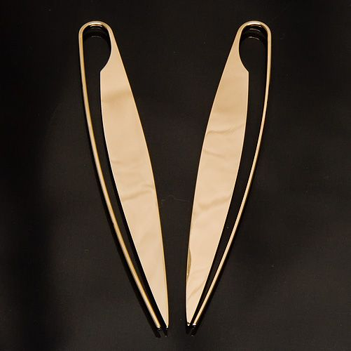Cucina  Gold, Forged Earring