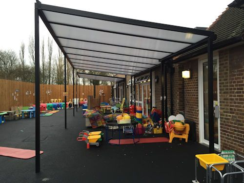 We installed two Coniston Wall Mounted Canopies on Rear Steel Golf Posts at Camrose Primary School with Nursery in December & 117 best School Canopy installations images on Pinterest | Canopy ...