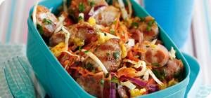 Griddled mango chicken with coleslaw