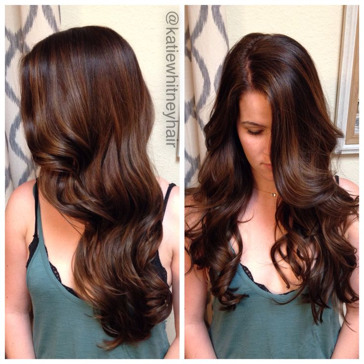 Chocolate brown hair with caramel balayage highlights #katiewhitneyhair ---> http://tipsalud.com