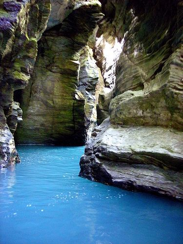 Places to See in New Zealand -  Rockburn Chasm, Glenorchy