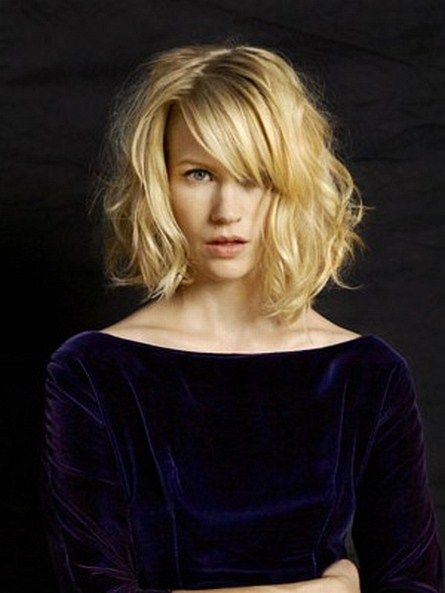 January Jones - my favorite blonde.  Her hair always looks amazing, whether polished, messy, modern or old-fashioned.