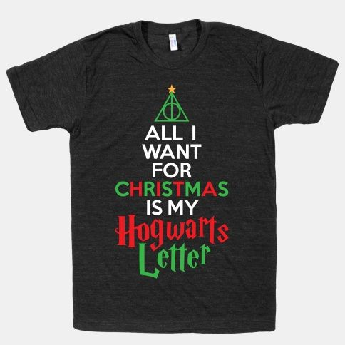 Christmas hogwarts letter harrypotter christmas cool for Hogwarts letter shirt