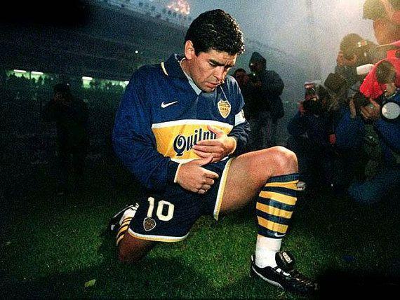 Maglia Nike del Boca Junior anno 1996 del ritiro di RalphaRecycled