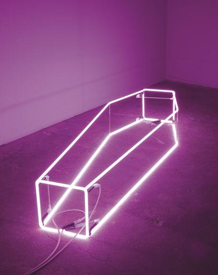 """New Religion (violet)"" by Sarah Lucas"