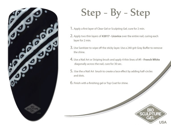 Black lace step-by-step
