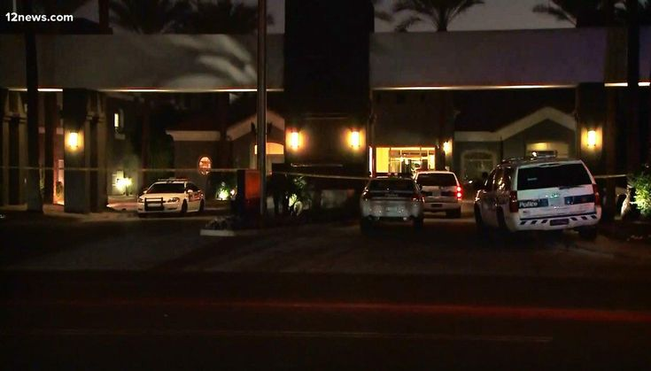 Police are on the scene on Christmas night, December 25, 2017, after a man shot and killed a woman and two children in the afternoon at the Highland Apartments, 1601 E. Highland St. in Phoenix, Arizona.