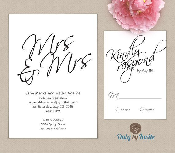 12 best Lesbian and gay wedding invitations images on Pinterest