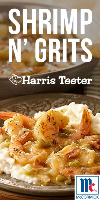 Shrimp N' Grits in less than 30 minutes!  Comfort food made easy with fresh shrimp, grits, and convenient pantry staples!