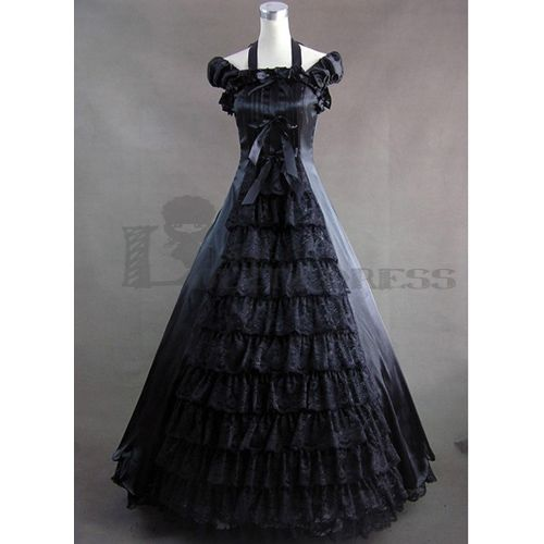 Graceful Short Sleeves Bowknot Floor-length Ruffles Black Gothic Victorian Dress for Sale Cheap Fancy Dress Outfits  http://www.lolitadress.co.uk/graceful-short-sleeves-bowknot-floorlength-ruffles-black-gothic-victorian-dress-for-sale-cheap-fancy-dress-outfits-p-4767.html