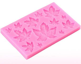 Maple Leaf Mold Silicone Baking Tools Autumn Fall Charm Assorted Style Flexible for Cake Chocolate Fondant Candy Cute Lovely Jelly Sugar Wax