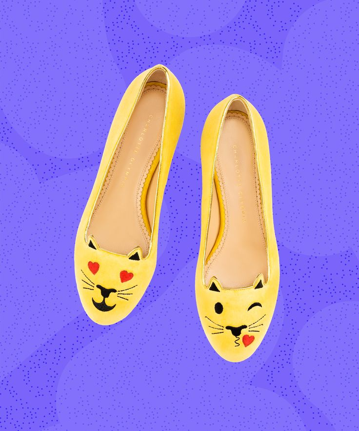 ^ Charlotte Olympia #Emoticats flats. http://footwearnews.com/2016/focus/womens/charlotte-olympia-emoticats-shoes-262033/