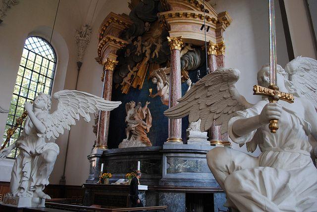 Inside Vor Frelsers Kirke, Copenhagen.