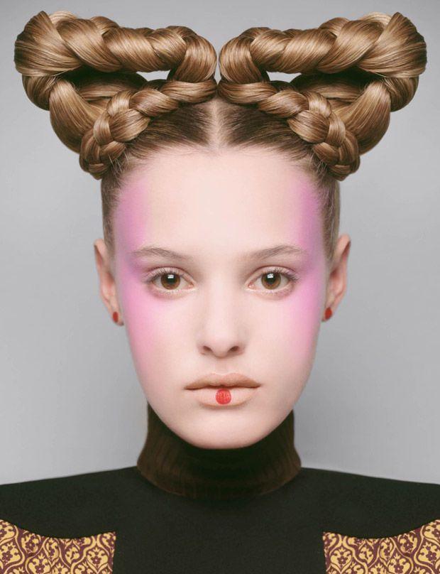 Harper's Bazaar UK's Beauty Queen's Story Boasts Braided Hairstyles #beauty trendhunter.com