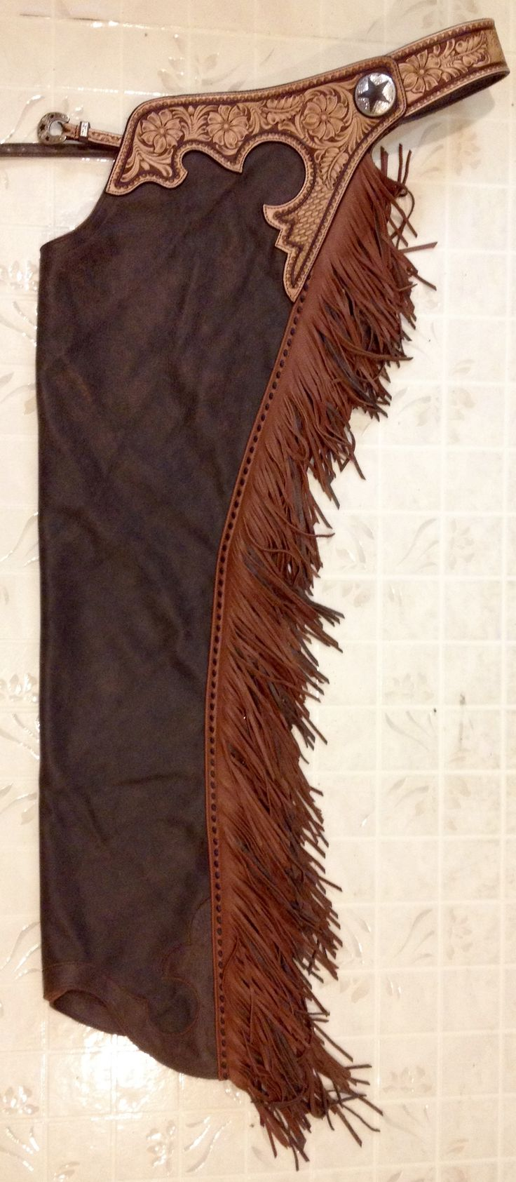 Brown Bomber and Rust reining chaps