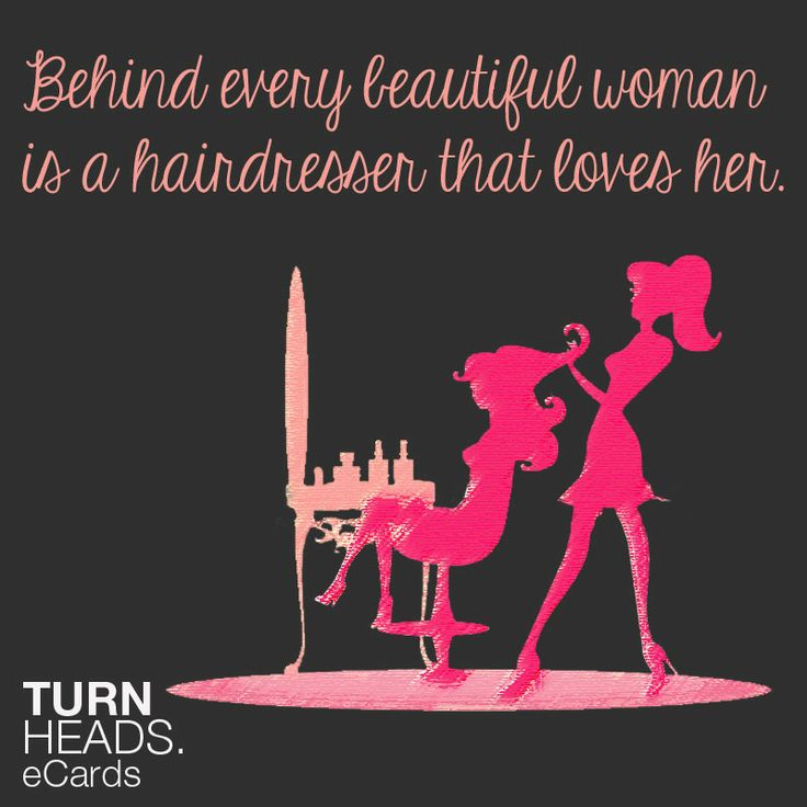Round of applause for all hairdressers who make us look BEAU-TI-FUL #Turnheads