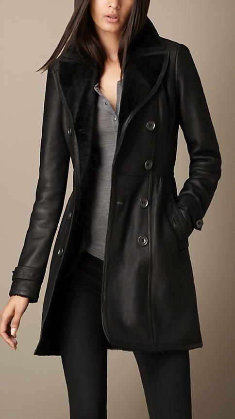 Il mio nuovo cappotteeeeeno <3 <3 <3 Cappotto tradizionale in shearling | Burberry