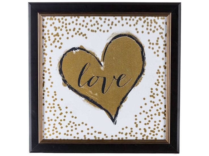 Gold Foil Love With Confetti Framed Art $19.99 At Hobby