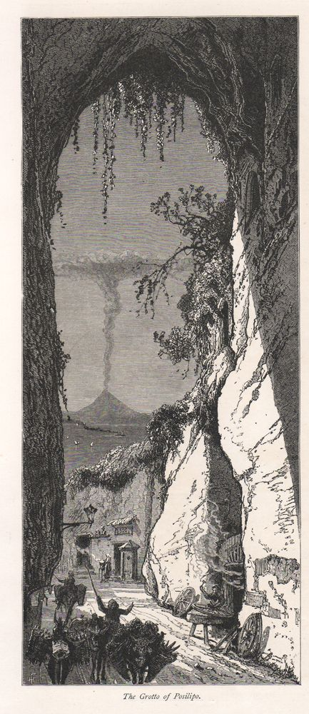 Grotta di Posillipo, 1884 - The Grotto of Posilipo, incisione xilografica di H.Fenn; tratta da Picturesque Europe, 1884.