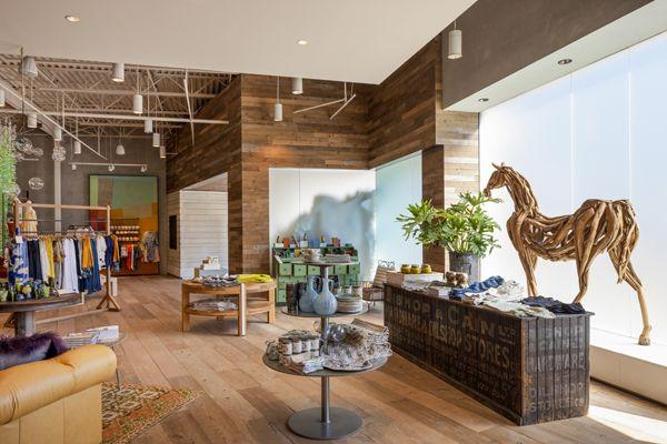 Anthropologie by EOA Elmslie Osler Architect, Little Rock, Arkansas, wrapping wood