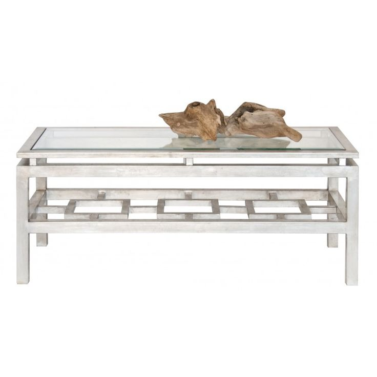 PIERRE SILVER LEAFED COFFEE TABLE -