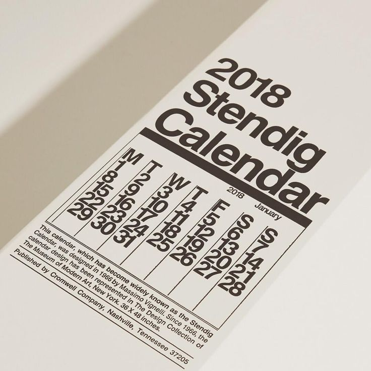"""245 Likes, 4 Comments - Need Supply Co. (@needsupply) on Instagram: """"The iconic Stendig wall calendar, designed in 1966 by Massimo Vignelli with dramatic, bold graphics…"""""""