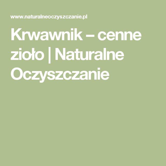 Krwawnik – cenne zioło | Naturalne Oczyszczanie