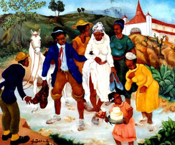 El matrimonio - Yves Michaud (1950-), haitiano