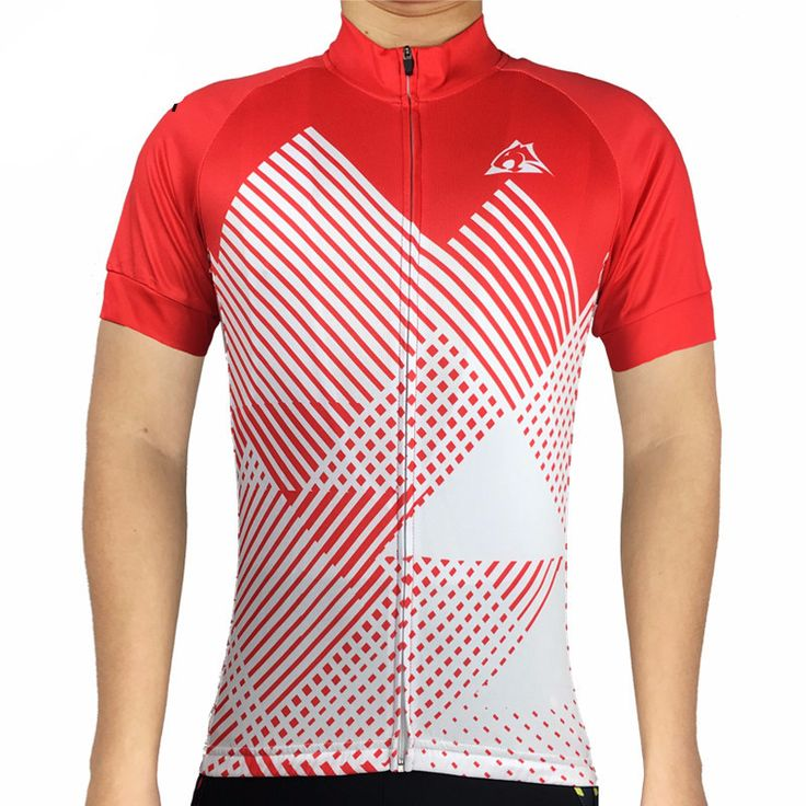 Red Pyramid Cycling Jersey