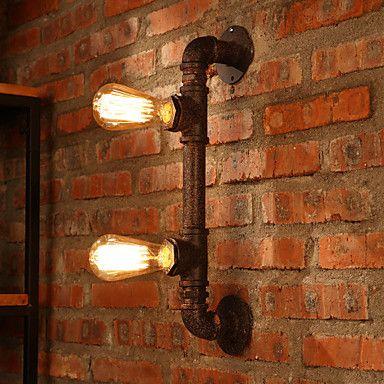 Lampade a candela da parete / Lampade da lettura da parete Stile Mini Rustico/lodge Metallo del 2015 a €151.89