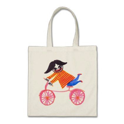 Bicycle Girl Tote Bag - accessories accessory gift idea stylish unique custom